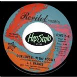 "45Re ✦ J.J. BARNES✦""Our Love Is In The Pocket/Hole In The Wall""-Twisted Soul'67"